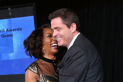 Actress Angela Bassett and Film Independent President Josh Welsh attend the 2014 Film Independent Filmmaker Grant And Spirit Awards Nominees Brunch at BOA Steakhouse on January 11, 2014 in West Hollywood, California.