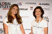 HRH Princess Madeleine of Sweden (L) and HRH Queen Silvia of Sweden attend the 2014 Global Citizen Festival to end extreme poverty by 2030 at Central Park on September 27, 2014 in New York City.