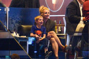 Britney Spears and her son Jayden James Federline attend a hockey game between the New York Rangers and the Los Angeles Kings in Game Two of the 2014 NHL Stanley Cup Final at the Staples Center on June 7, 2014 in Los Angeles, California.
