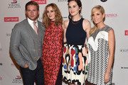 Actors Allen Leech, Laura Carmichael, Michelle Dockery and Joanne Froggatt attend the 2014 Summer TCA Tour 'Downton Abbey' Season 5 photocall at The Beverly Hilton Hotel on July 22, 2014 in Beverly Hills, California.