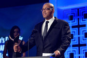"""Writer Vincent Brown accepts the award for """"Outstanding Script Children's - Episodic & Specials"""" for """"A.N.T. Farm: InfluANTces the 2014 Writers Guild Awards L.A. Ceremony at J.W. Marriott at L.A. Live on February 1, 2014 in Los Angeles, California."""