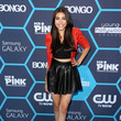 Madison Beer in black and red