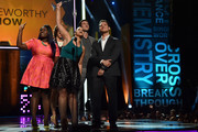 (L-R) Actors Danielle Brooks, Alysia Reiner, Dascha Polanco, Pablo Schreiber and Matt McGorry speak onstage at the 2014 Young Hollywood Awards brought to you by Samsung Galaxy at The Wiltern on July 27, 2014 in Los Angeles, California. The Young Hollywood Awards will air on Monday, July 28 8/7c on The CW.