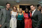 (L-R) Actors Pablo Schreiber, Alysia Reiner, Dascha Polanco,  Danielle Brooks, and Matt McGorry backstage at the 2014 Young Hollywood Awards brought to you by Samsung Galaxy at The Wiltern on July 27, 2014 in Los Angeles, California. The Young Hollywood Awards will air on Monday, July 28 8/7c on The CW.