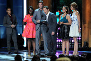 (L-R) Actors Danielle Brooks, Pablo Schreiber, Matt McGorry, Dascha Polanco and Alysia Reiner speak onstage at the 2014 Young Hollywood Awards brought to you by Samsung Galaxy at The Wiltern on July 27, 2014 in Los Angeles, California. The Young Hollywood Awards will air on Monday, July 28 8/7c on The CW.