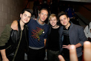 (L - R) Musicians Riley McDonough, Chris Martin, Connor McDonough and Toby McDonough attend the 2014 iHeartRadio Music Festival at the MGM Grand Garden Arena on September 19, 2014 in Las Vegas, Nevada.
