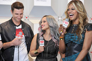 (L-R) Actors Pablo Schreiber, Dascha Polanco and Laverne Cox attend the 2014 iHeartRadio Music Festival at the MGM Grand Garden Arena on September 20, 2014 in Las Vegas, Nevada.