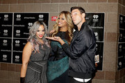 (L-R) Actors Dascha Polanco, Laverne Cox and Pablo Schreiber attend the 2014 iHeartRadio Music Festival at the MGM Grand Garden Arena on September 20, 2014 in Las Vegas, Nevada.