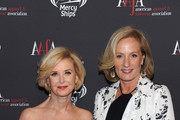 AAFA President & CEO Juanita D. Duggan (L) and CEO, President and Chairman Brown Shoe Company Diane Sullivan attend the 2015 AAFA American Image Awards on April 27, 2015 in New York City.