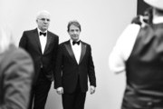 Image has been shot in black and white.) Honoree Steve Martin (L) and actor Martin Short pose for a portrait as they attend the 2015 AFI Life Achievement Award Gala Tribute Honoring Steve Martin at the Dolby Theatre on June 4, 2015 in Hollywood, California. 25292_006