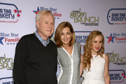 (L-R) Chris Matthews, Chris Jansing and Tara Lipinski attend the 2015 Annual Garden Brunch at the Beall-Washington House on April 25, 2015 in Washington, DC.