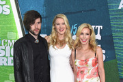 (L-R) Cal Campbell, Ashley Campbell, and Kim Campbell attend the 2015 CMT Music awards at the Bridgestone Arena on June 10, 2015 in Nashville, Tennessee.