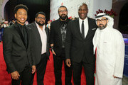 "Actor Jacob Latimore, guest, director Khurram Alavi,  actor Adewale Akinnuoye-Agbaje and director Ayman Jamal attends the ""Bilal"" premiere during day two of the 12th annual Dubai International Film Festival held at the Madinat Jumeriah Complex on December 10, 2015 in Dubai, United Arab Emirates."