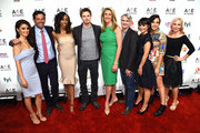 (L-R) Shiri Appleby, Robert Sharenow, Dianna Williams, Bradley James, Nancy Dubuc, Glen Mazzara, Constance Zimmer, Sarah Shapiro and Marti Noxon attend 2015 A+E Networks Upfront on April 30, 2015 in New York City.
