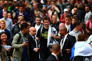 Andy Murray of Great Britain leaves a practice session on day six of the 2015 French Open at Roland Garros on May 29, 2015 in Paris, France.