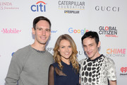 (L-R) Actors Cory Michael Smith, Erin Richards and Robin Lord Taylor attend the 2015 Global Citizen Festival to end extreme poverty by 2030 in Central Park on September 26, 2015 in New York City.