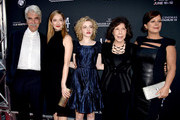 "(L-R)  Actor Sam Elliott and actresses Judy Greer, Julia Garner, Lily Tomlin and Marcia Gay Harden arrive at the Los Angeles Film Festival opening night premiere of Sony Pictures Classics' ""Grandma"" at the Regal Cinemas L.A. Live on June 10, 2015 in Los Angeles, California."