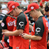 Chad Lowe Photos - (L-R) Nick Lachey and Chad Lowe attend 2015 MLB All-Star Legends and Celebrity Softball Game the at Great American Ball Park on July 12, 2015 in Cincinnati, Ohio. - 2015 MLB All-Star Legends And Celebrity Softball Game