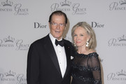 Sir Roger Moore and Kristina Tholstrup attend the 2015 Princess Grace Awards Gala With Presenting Sponsor Christian Dior Couture at Monaco Palace on September 5, 2015 in Monte-Carlo, Monaco.