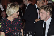 (L-R) Her Serene Highness Princess Charlene of Monaco and 2015 Princess Grace Awards Gala Honoree Robert Redford attend the 2015 Princess Grace Awards Gala With Presenting Sponsor Christian Dior Couture at Monaco Palace on September 5, 2015 in Monte-Carlo, Monaco.