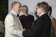 (L-R) His Serene Highness Prince Albert II of Monaco, Her Serene Highness Princess Charlene of Monaco, 2015 Princess Grace Awards Gala Honorees Robert Redford and Sibylle Szaggars Redford attend the 2015 Princess Grace Awards Gala With Presenting Sponsor Christian Dior Couture at Monaco Palace on September 5, 2015 in Monte-Carlo, Monaco.