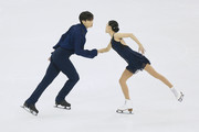 Qing Pang and Jian Tong of China perform during the Ice Dancing-Pairs Short Program on day one of the 2015 ISU World Figure Skating Championships at Shanghai Oriental Sports Center on March 25, 2015 in Shanghai, China.