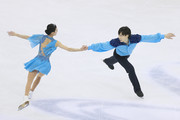 Qing Pang and Jian Tong of China perform during the Ice Dancing-Pairs Free Skating on day two of the 2015 ISU World Figure Skating Championships at Shanghai Oriental Sports Center on March 26, 2015 in Shanghai, China.