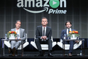(L-R) Head of Drama Development at Amazon Studios Morgan Wandell, Head of Amazon Studios Roy Price and Head of Comedy at Amazon Studios Joe Lewis speak onstage at the Amazon Studios portion of the 2015 Summer TCA Tour at The Beverly Hilton Hotel on August 3, 2015 in Beverly Hills, California.