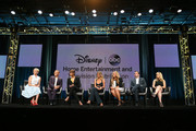 (L-R) TV personality Leah Ashley, stylist Joe Zee, models Tyra Banks and Chrissy Teigen, TV host Lauren Makk and executive producers Shane Farley and Rebecca Mayer speak onstage during the 'The FAB Life' panel discussion at the ABC Entertainment portion of the 2015 Summer TCA Tour at The Beverly Hilton Hotel on August 4, 2015 in Beverly Hills, California.