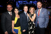 (L-R) Robert Askins, Sarah Stiles, Steven Boyer, Geneva Carr, and Moritz von Stuelpnagel attend the 2015 Tony Awards Nominees' Luncheon at Diamond Horseshoe at the Paramount Hotel on May 15, 2015 in New York City.