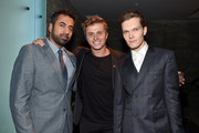 "Actors Kal Penn, Kenny Wormald and  Luke Baines attend ""The Girl In The Photographs"" reception during the 2015 Toronto International Film Festival at the Adelaide West Hotel  on September 14, 2015 in Toronto, Canada."