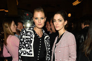 Constance Jablonski and Sofia Sanchez-Barrenechea attend the 2015 Tribeca Film Festival CHANEL Artists Dinner at Balthazer on April 20, 2015 in New York City.