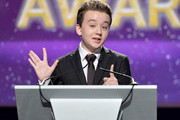 Actor Benjamin Stockham speaks onstage at the 2015 Writers Guild Awards L.A. Ceremony at the Hyatt Regency Century Plaza on February 14, 2015 in Century City, California.