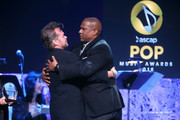 Honoree John Mellencamp (L) accepts the ASCAP Founders Award from TV personality Tavis Smiley onstage during the 2016 ASCAP Pop Awards at the Dolby Ballroom on April 27, 2016 in Hollywood, California.
