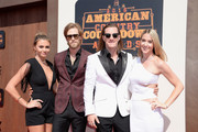(L-R) Brittney Marie Cole, musicians Brian Kelley, Tyler Hubbard of Florida Georgia Line and Hayley Stommel attend the 2016 American Country Countdown Awards at The Forum on May 1, 2016 in Inglewood, California.