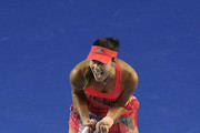 Ana Ivanovic of Serbia celebrates in her second round match against Anastasija Sevastova of Latvia during day four of the 2016 Australian Open at Melbourne Park on January 21, 2016 in Melbourne, Australia.