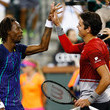 Gael Monfils and Milos Raonic Photos