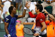 Gael Monfils and Milos Raonic Photos Photo