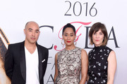 Max Osterweis and Tracee Ellis Ross with guest attend the 2016 CFDA Fashion Awards at the Hammerstein Ballroom on June 6, 2016 in New York City.
