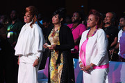 (L-R) Karen Clark Sheard, Dorinda Clark-Cole, and Jacky Cullum Chisholm from The Clark Sisters attend the 2016 ESSENCE Festival Presented By Coca-Cola at Ernest N. Morial Convention Center on July 3, 2016 in New Orleans, Louisiana.
