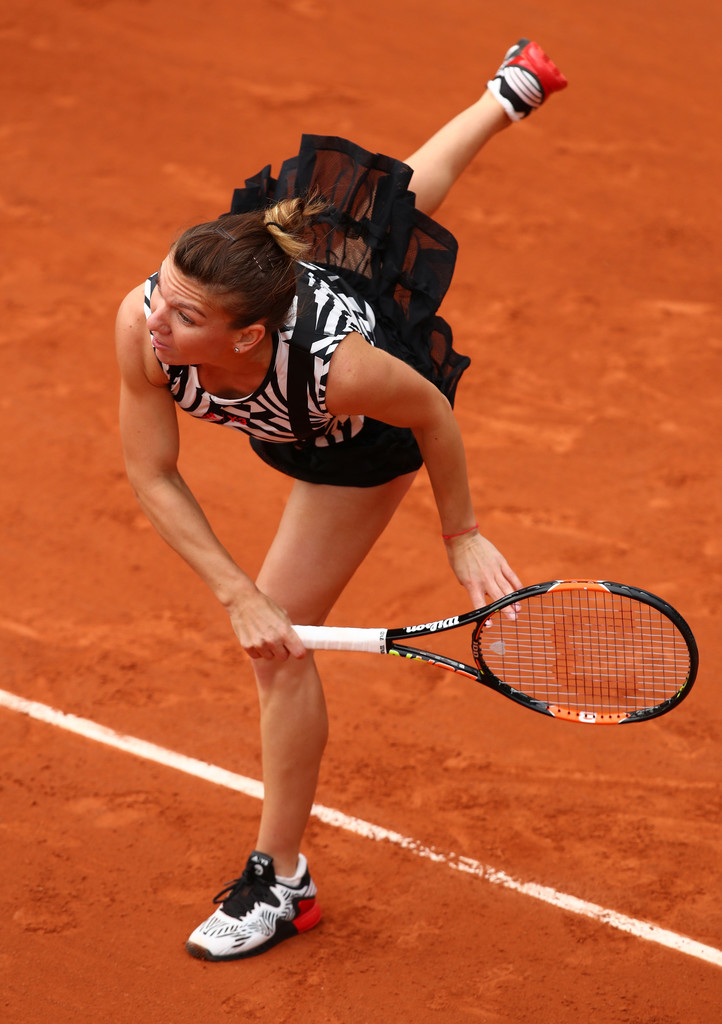 garbine muguruza simona halep open roland garros 2016 campaigns with wins fairways and forehands. Black Bedroom Furniture Sets. Home Design Ideas