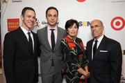 Honorary Co-Chairs Todd Spiewak, Jim Parsons, Marilyn Katzenberg and Jeffrey Katzenberg attend the 2016 GLSEN Respect Awards - Los Angeles at the Beverly Wilshire Four Seasons Hotel on October 21, 2016 in Beverly Hills, California.