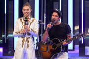 Gigi Hadid and Tyler Posey at the 2016 iHeartRADIO MuchMusic Video Awards at MuchMusic HQ on June 19, 2016 in Toronto, Canada.