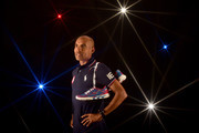 A special effects camera filter was used for this image.)  Runner Meb Keflezighi poses for a portrait at the 2016 Team USA Media Summit at The Beverly Hilton Hotel on March 7, 2016 in Beverly Hills, California.