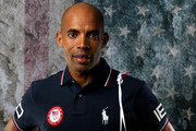Runner Meb Keflezighi poses for a portrait at the 2016 Team USA Media Summit at The Beverly Hilton Hotel on March 7, 2016 in Beverly Hills, California.