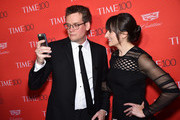 Author John Green and Sarah Green attend 2016 Time 100 Gala, Time's Most Influential People In The World red carpet at Jazz At Lincoln Center at the Times Warner Center on April 26, 2016 in New York City.