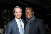 """John Molner and John Douglas Thompson attend the """"Wolves"""" after party during 2016 Tribeca Film Festival at No. 8 on April 15, 2016 in New York City."""