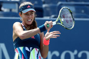 Ana Ivanovic of Serbia returns a shot to Denisa Allertova of Czech Republic during her first round Women's Singles match on Day Two of the 2016 US Open at the USTA Billie Jean King National Tennis Center on August 30, 2016 in the Flushing neighborhood of the Queens borough of New York City.