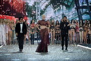 Bruno Mars, Lady Gaga, The Weeknd and Victoria's Secret Models walk the runway during the 2016 Victoria's Secret Fashion Show on November 30, 2016 in Paris, France.
