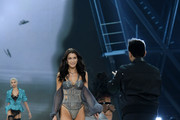 Bella Hadid and The Weeknd walks the runway during the 2016 Victoria's Secret Fashion Show on November 30, 2016 in Paris, France.